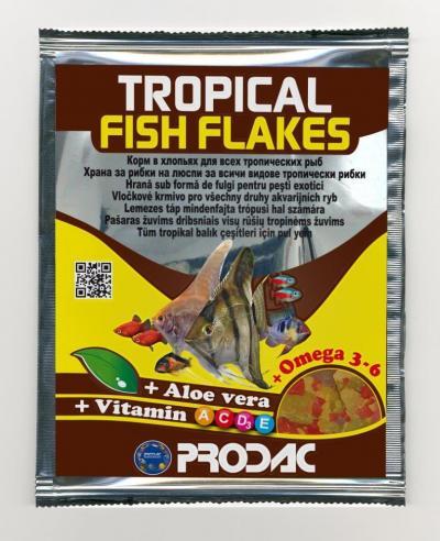 PRODAC TROPICAL FISH FLAKES dribsniai tropinėms žuvims 12g