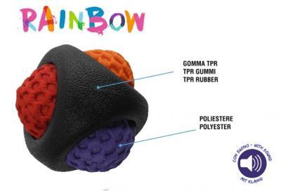 Žaislas šunims Rainbow Ball 7.5cm