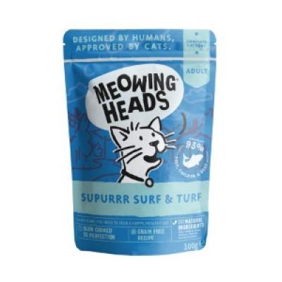 MEOWING HEADS Supurr Surf/Turf konservai katėms (žuvis/vištiena/jautiena) 100g