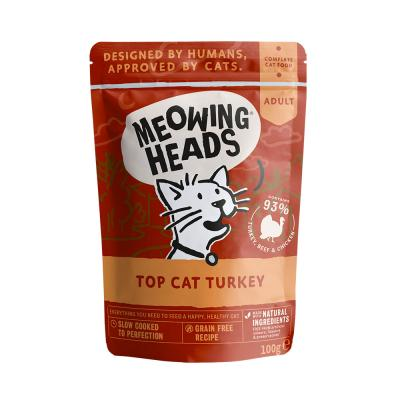 MEOWING HEADS Top Cat Turkey (kalakutiena/jautiena/vištiena) 100g
