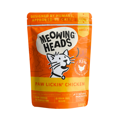 MEOWING HEADS Paw Lickin' Chicken (vištiena/jautiena) 100g