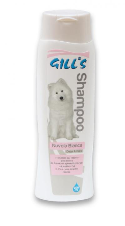 GILL'S NUVOLA BIANCA šampūnas (baltaplaukiams šunims/katėms) 200ml