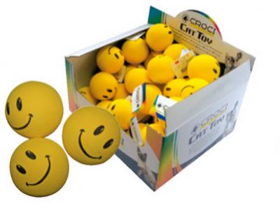 Žaislas katei kamuoliukas SMILE 4cm