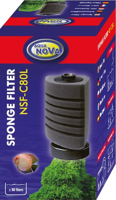 AQUA NOVA kampinis kempininis filtras 80l/h iki 80l