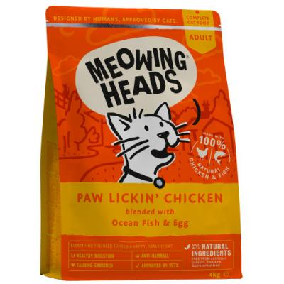 MEOWING HEADS Paw Lickin' Chicken (vištiena/žuvis) 4kg