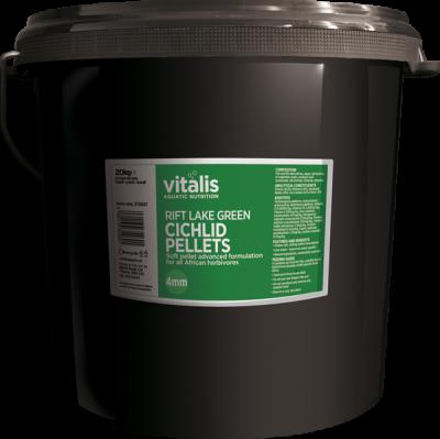 VITALIS Rift Lake Cichlid Pellets - Green (S) 1.5mm 20kg