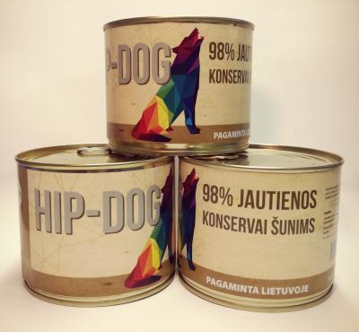 HIP-DOG jautienos konservas šunims 250g