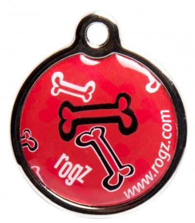 ROGZ pakabukas šuniui Red Bone metalinis