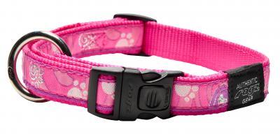 ROGZ antkaklis Pink Paw 34-56x2cm