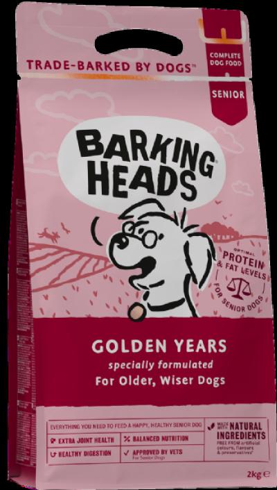 BARKING HEADS Golden Years senjorams (Vištiena/upėtakis/lašiša) 2kg