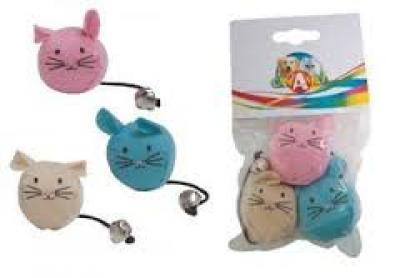 Žaislas katei pelytės 3vnt