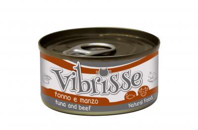 VIBRISSE konservai katėms su tunu ir jautiena padaže 70g