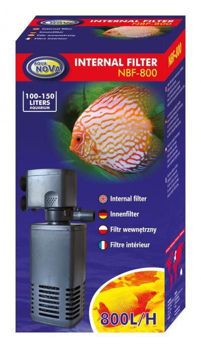 AQUA NOVA vidinis filtras 800l/h 100-150l