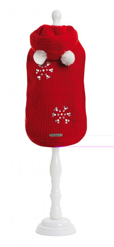 Megztinis LOVEY-DOVEY RED vilna/kašmyras 30cm