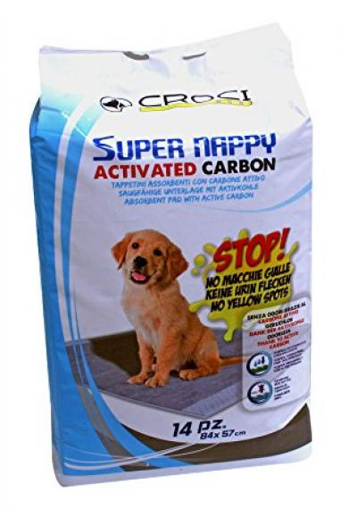 CROCI SUPER NAPPY Higieniniai paklotai su anglimi 84x57cm, 14vnt