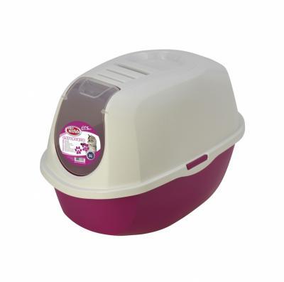 PET NOVA uždaras tualetas CatLifeECO rožinis 54cm
