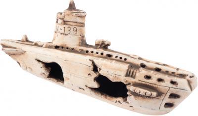 AQUA NOVA dekoracija paskendęs laivas 25x11x8cm